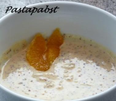 Fondue : Orangen-Honig-Senfsauce - Rezept