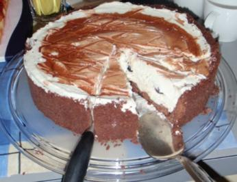 Amarena Mascarpone Torte  - ganz ohne Backofen - Rezept