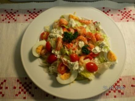 Salatteller mit Flußkrebsen - Rezept