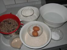 selbstgebackeneRoggenmischbrot mit Körner und Mandeln  ( abgewandelte Form) - Rezept
