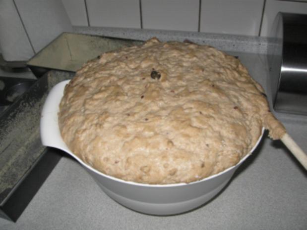 selbstgebackeneRoggenmischbrot mit Körner und Mandeln  ( abgewandelte Form) - Rezept - Bild Nr. 2