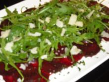 Rote-Bete-Carpaccio mit Ruccola - Rezept