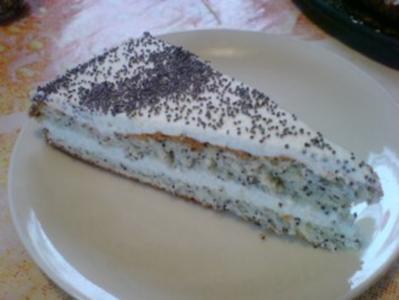 Mohn-Marzipan-Torte - Rezept