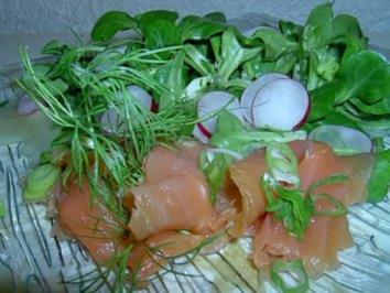 Wildlachs an Feldsalat - Rezept
