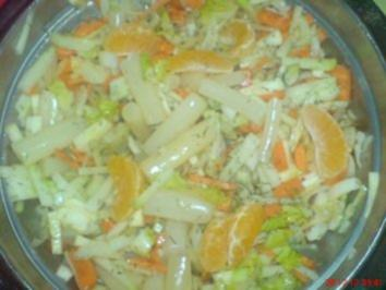 Rezept: Gemüsesalat mit Mandarinen