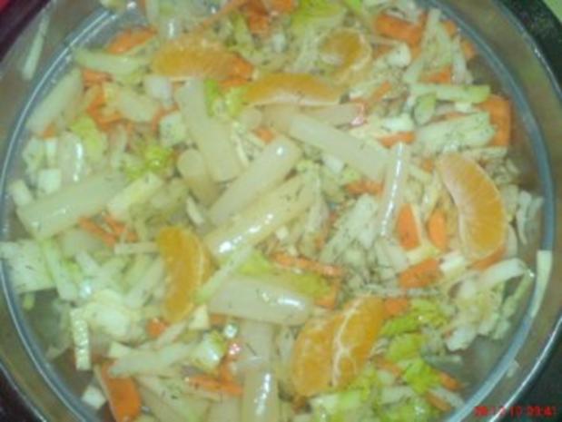 Gemüsesalat mit Mandarinen - Rezept