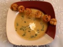 Fränkische- Kartoffelsuppe mit Garnelenschwänze - Rezept