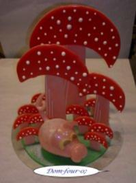 Zuckerschwein  mit Pilze - Rezept