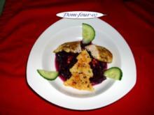 Rotkrautsalat mit Hähnchenbrust und Parmesanbaum - Rezept