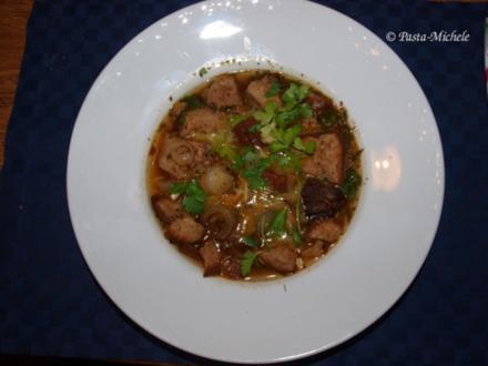 Normannische Brotsuppe nach Vaters Rezept         (Consommé croûte au pot) - Rezept