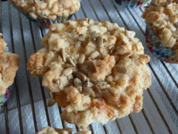 Apfel-Muffins mit Lebkuchenstreuseln - Rezept