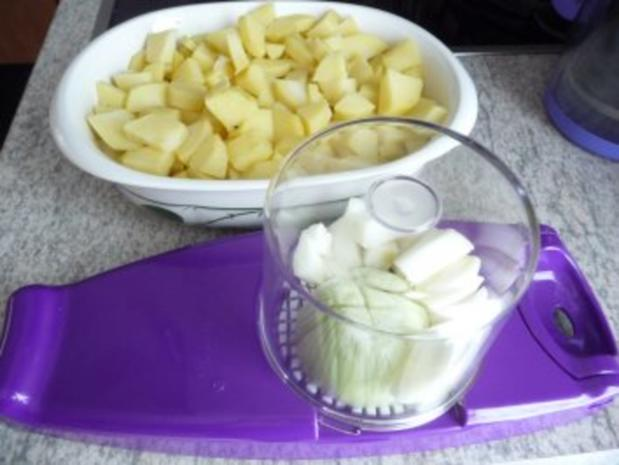 Resteverwertung : ... von Salzkartoffeln = Bratkartoffeln - Rezept - Bild Nr. 3