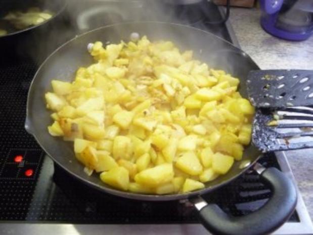 Resteverwertung : ... von Salzkartoffeln = Bratkartoffeln - Rezept - Bild Nr. 4