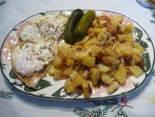 Resteverwertung : ... von Salzkartoffeln = Bratkartoffeln - Rezept