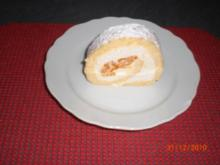Sahne-Biskuitrolle - Rezept