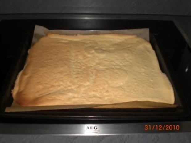 Sahne-Biskuitrolle - Rezept - Bild Nr. 8