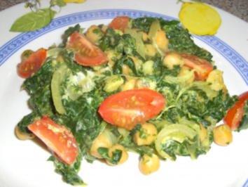 Kichererbsen - Spinat - Pfanne - Rezept