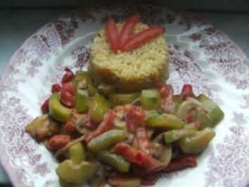 Rezept: Reisrisotto mit knackigem  Gemüse