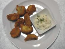 Gebackene Champignons mit Schnittlauch-Dip - Rezept