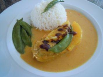 Curryhühnchen in Orangensahnesauce - Rezept