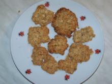 Kernige Haferflockenkekse - Rezept