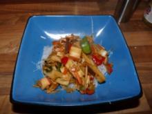 China Pfanne mit Glasnudeln und Meeresfrüchten - Rezept