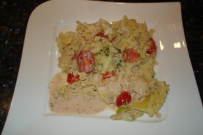 Frischkäse-Tomaten-Nudeln - Rezept