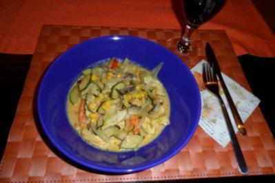 Zucchini-Gemüse-Kombination mit Putenfleisch - Rezept