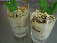 Marinierte, gebratene Ananas mit Honig-Joghurt-Sauce - Rezept