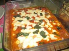 Hackbällchen an Tomatensauce mit Mozzarella - Rezept