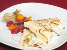 Ricotta-Eis mit frischen Früchten - Rezept