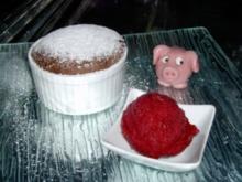 Warmer Schokoladenkuchen mit flüssigem Kern  & - Rezept