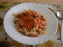 Schinkennudeln ~ Zucchini-Tomatensauce - Rezept