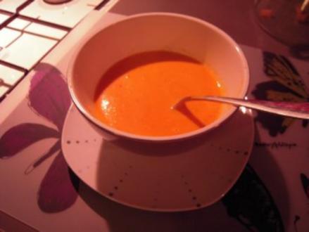 Karotten-Ingwer-Kokos-Suppe - Rezept