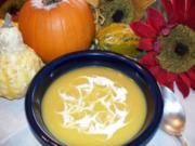 Eichelkürbis-Suppe / Acorn-Squash Soup - Rezept
