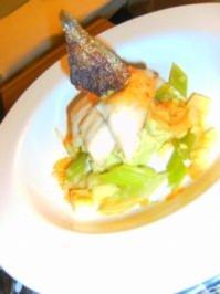 Forelle auf Wasabi-Lauch-Karoffelpüree - Rezept