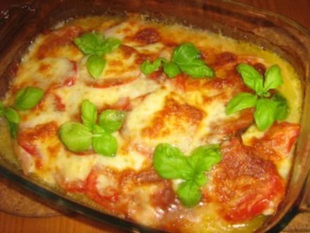 Putenschnitzelchen unter einer Tomaten-Mozzarella-Kruste - Rezept - Bild Nr. 6