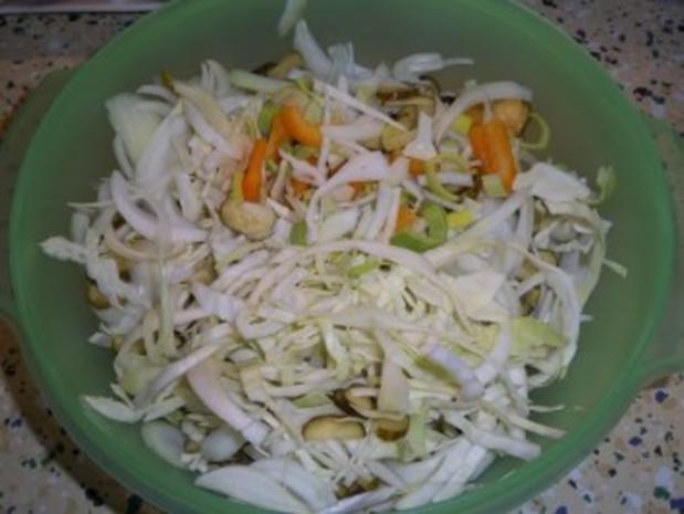 Hähnchen Kebab, gebratenes Hühnerkeulenfleisch in pikanter Gemüsemischung - Rezept - Bild Nr. 3