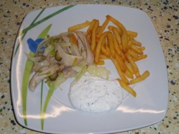 Hähnchen Kebab, gebratenes Hühnerkeulenfleisch in pikanter Gemüsemischung - Rezept