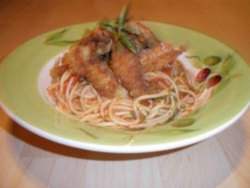 Pasta mit gebackenen Makrelenfilets - Rezept