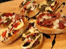 Bruscetta dreierlei (überbacken) - Rezept