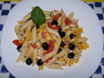 Nudelsalat, mediterran - Rezept