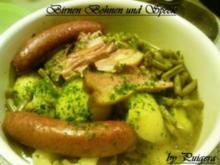 Birnen,Bohnen und Speck - Rezept