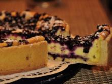 Topfenkuchen mit Heidelbeeren - Rezept