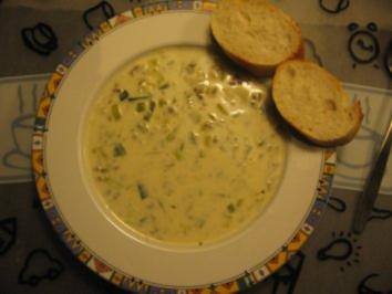 Hack-Käse-Lauch-Suppe - Rezept