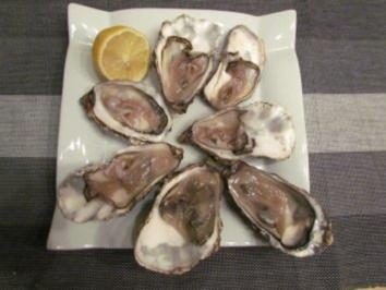Frische Austern - Rezept