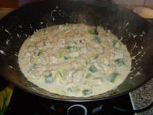 Zucchini mit gewürfeltem Schweinefleisch in Ricottasoße.... - Rezept