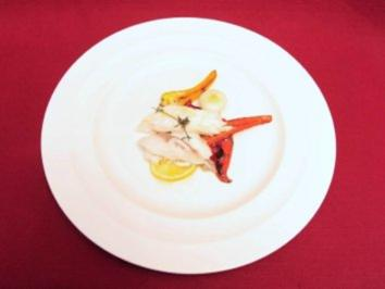 Seewolf im Ganzen in der Salzkruste gegart mit gegrilltem Gemüse (Jochen Bendel) - Rezept