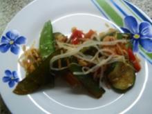 Gebratener Reis mit Hähnchen und Bambussprossen - Rezept