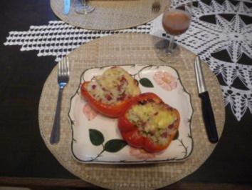 """""""W W"""" Wenig Werte Rezepte : Mit Käse überbackene gefüllte Paprikaschoten - Rezept"""